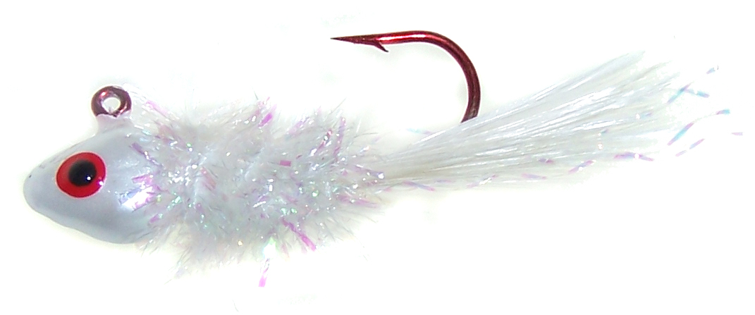 Crystal Fry Jig - 1/16 oz - White - 2 per Pack