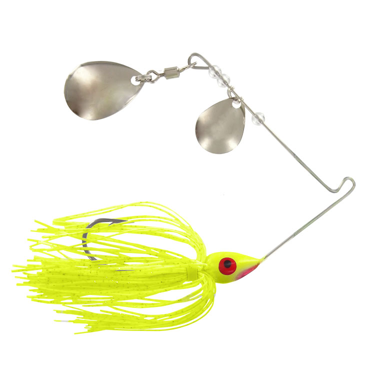 Promo Spinnerbait - 3/8 Oz. - Chartreuse - 6 Pack