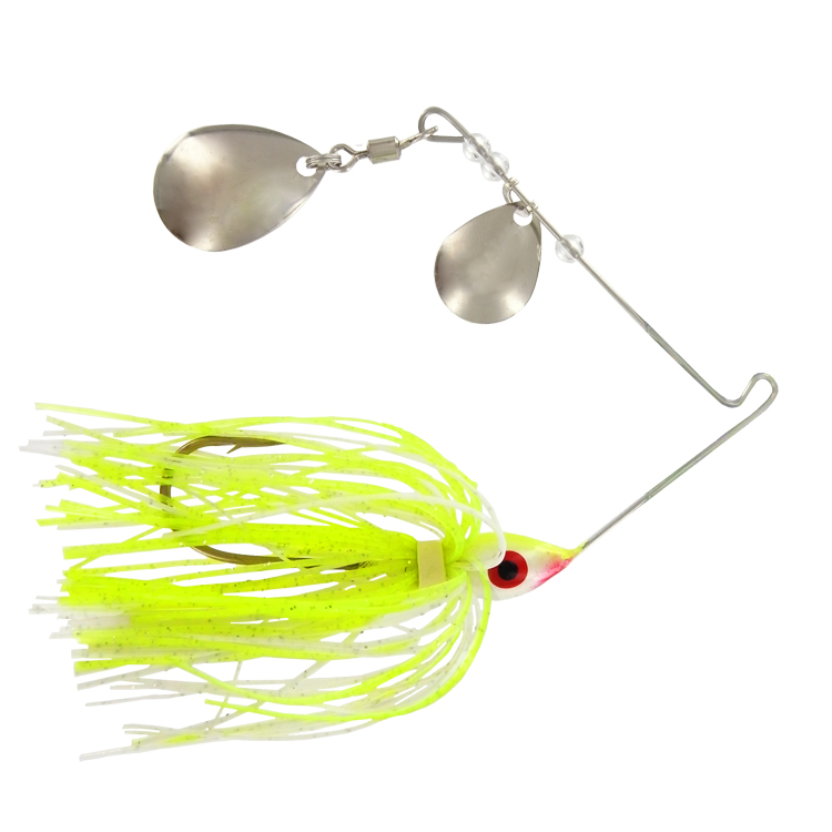 Promo Spinner Bait - 1/4 Oz. - Chartreuse Silver - 6 Pack